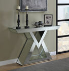 Coaster Modern Essence Console Table With Triangle Base Clear Mirror 930009