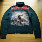 Vintage POLO Ralph Lauren Native Hand Knit Turtleneck Sweater Size XL rare USED