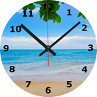 WALL CLOCK BEACH 25cm Sea Relaxing Seaside Home Decor diy Holiday Tranquil 736