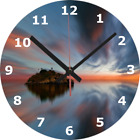 WALL CLOCK SEA 25cm Rock Reflection Calm Relaxing Soothing Tranquil Home diy 896