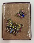 Jay Strongwater Bi-Fold Picture Frame With Jeweled Butterflies