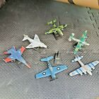 Lot of 6 Diecast Airplanes Fighter Jet Aircraft Military Planes Maisto 4 Stands