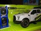 JADA 2017 FORD F 150 RAPTOR PICKUP TRUCK GRAY  EXTRA WHEELS 1 24 DIECAST 31561