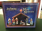 Jim Shore Away In A Manger 9 Pc Mini Nativity Set From 2012 In Box 4027720 EUC