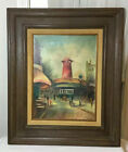 Antique Original Oil Painting On Canvas Framed Wall Art Signed Randolph 24x20