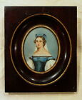 ANTIQUE MINIATURE PORTRAIT PAINTING ARTIST SIGNED