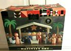 FAO Schwarz Nativity Set Traditional Wooden 15 Piece Set Christmas Jesus NIB NEW