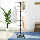Rotating Hat Display Rack Free Standing Floor Caps Garment Clothes Stand 7 Tier