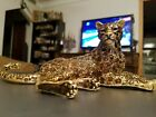JAY STRONGWATER Resting Leopard Jaguar Cheetah Figurine/Jungle Collection