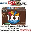 Yuban Colombian Medium Roast K Cup Coffee Pods 72 Pods 6 Packs of 12 EXP SEP 20