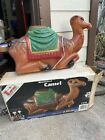 Vintage Blow Mold Christmas Lighted Outdoor Nativity Camel NEW CORD  SOCKET