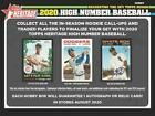 2020 Topps Heritage High Number Baseball Hobby Box (24 Packs 9 Cards: 1 Auto)