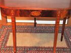 PERIOD AMERICAN FEDERAL INLAID GAMES TABLE EAGLE BELL FLOWERS 1800