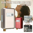 110V 3000W Instant Electric Tankless Hot Water Heater Bath Kitchen Washing Fauce