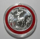 2020 CHRISTMAS ORNAMENT RUDOLPH THE RED NOSE REINDEER 1 OZ SILVER COIN