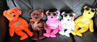 5 Ty Beanie Babies ELVIS PRESLEY Solid Gold Beanie +Bearning Love Collector  etc