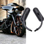 Black Motorcycle Oval Mirrors For Harley Davidson Street Glide Road King Softail