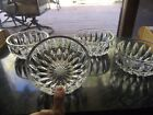 Set 4 Glass Nappy Finger Bowls 4 3 8 GORHAM Althea clear cut crystal rare