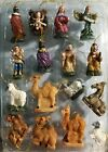 16 pieces Nativity Scene Set Micro Miniature Christmas Fairy Garden NEW VINTAGE