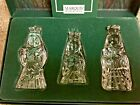 WATERFORD MARQUIS CRYSTAL THREE WISE MEN FROM THE CHRISTMAS NATIVITY COLLECTION