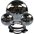 7 LED Daymaker Headlight + Passing Lights Harley Davidson Touring Road King BLK