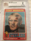 1971 Topps Terry Bradshaw Rookie #156 RC BGS BVG 2 Good Pittsburgh Steelers