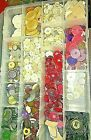 HUGE COLLECTION OF VINTAGE BUTTONS ALL COLORS ALL TYPES NONE NEW