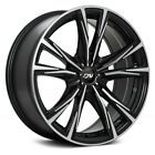 DAI Alloys DW80 ORACLE Wheels 17x75 41 5x1143 731 Black Rims Set of 4