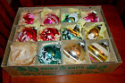 11 large Shiny Brite Glass Christmas Tree Ornaments in their original Box