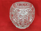 Crystal Ball Vase Round Ball Vase Triangles Circles Geometric Glass Bowl Vase