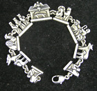 James Avery Sterling Silver Christmas Nativity Link Charm Bracelet