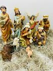 8 Christmas Nativity Scene Set Figures Resin Figurines Nacimiento 11PC