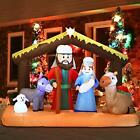 Outdoor Christmas Decoration 65 ft Nativity Scene Blow Up LED Outdoor Yard Art