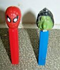 2 PEZ DISPENSERS MR. UGLY & SPIDERMAN NO FEET
