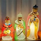 Vintage 1982 Vintage Empire Blow Molds Three 3 Wise Men Kings Lighted Nativity
