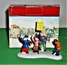 LEMAX Village Collection Porcelain Waiting for the Bus Figurine ~ Snowball Fight
