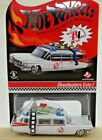 Hot Wheels RLC Ghostbusters Ecto 1 Redlines Mint on Card 3648 6530