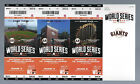 2014 WORLD SERIES KC ROYALS @ SF GIANTS FULL UNUSED TICKETS GAMES #3,4,5 - MINT