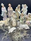 8 Christmas Nativity Scene Set Figures Resin Figurines Baby Jesus 12PC Holy