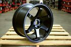 18 GRID TE37 STAGGERED RIMS WHEELS FITS NISSAN 350Z 370Z 300ZX 240SX S13 S14