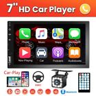 7 Double 2 Din Radio Apple Andriod Car Play BT Car Stereo Touch Screen + Camera
