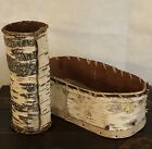 Birch Bark Hand Crafted Basket And Dry Flower Vase Decor