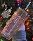 Starbucks Holiday 2020 RARE Iridescent GLASS Tumbler Limited Release NWT