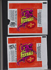 1973 TOPPS FOOTBALL WRAPPER Lot of 2 Different Ads