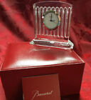 NIB NEW FLAWLESS Stunning BACCARAT France Crystal MUSEUM StyleCLOCK Sculpture