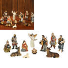 Small Christmas Resin Nativity Scene Figurines Set Statue Gifts Display