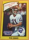 Phil Simms, Rookie Year 1979, Starting Lineup Card, NFLPA, 1990