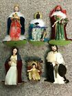 KURT S ADLER 13 6 PIECE NATIVITY FIGURE SET CHRISTMAS DECOR