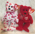 Ty Valentine Beanie Babies, Kissy 2003, Secret 2003. New