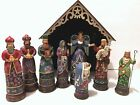 JIM SHORE 2009 BETHLEHEMS MIRACLE 9 PIECE NATIVITY SET STABLE 4014469